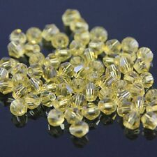 100 Pieces Swarovski 4mm Bicone Crystal beads D Light-yellow