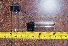 2 Glass GOLD Vials 1 DRAM Prospecting Mining Panning Dredge Sluice Placer FREE