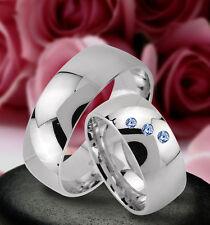 Trauringe  Eheringe Verlobungsringe mit echten Blautopas , Silber 925 , J24-3B