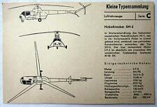 DDR Kleine Typensammlung Luftfahrzeuge - Hubschrauber SM-2