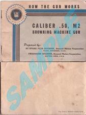 "Browning .50 Caliber M2 ""How The Gun Works"" Manual CD"
