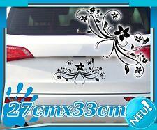 Aufkleber Blumenranke, Blumen Auto Tattoo Pflanzen Ornament Heck Sticker 2K016_1