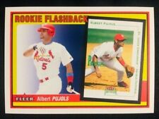 New listing 2002 Fleer Albert Pujols Rookie Flashbacks Insert Card Mint Condition