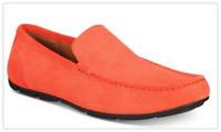 $79 Alfani Mens Kendric Textured Drivers Orange 10