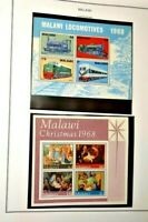 CatalinaStamps: Malawi & Mali Stamp Collection on Album Pages, 195 Stamps, Lot R