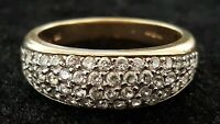 9 carat solid gold & clear stone vintage Art Deco antique ring - size O