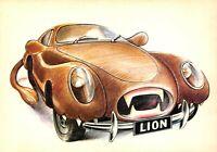 Carte Postale Signe du ZODIAC, LION, série Automobile