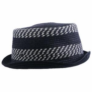 DIESEL CLAUDYN CAPPELLO Mens Homburg Hat Summer Trilby Casual Black Fedora Cap