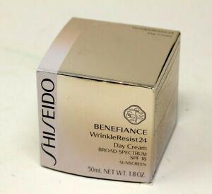 New Shiseido Benefiance 50ml WrinkleResist 24 SPF 18 Day Cream