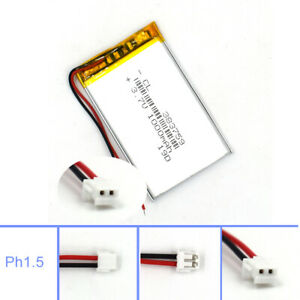 Lipolymer 383759 Battery 3.7V 1000mAh Rechargeable Cell for Lamp Led Camera GPS