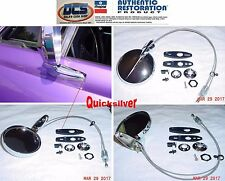 1966 - 1976 Dodge Plymouth A & B Body Left Round Remote Mirror NEW