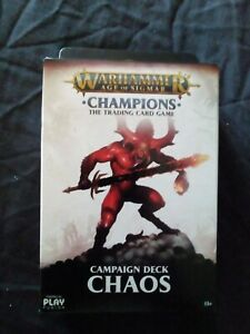 WARHAMMER  CHAMPIONS - CHAOS CAMPAIGN DECK - NEW SEALED