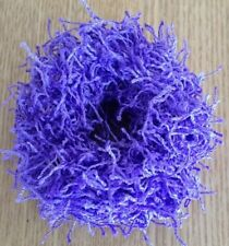 A Purple Shaggy Donut Hair Scrunchie/Bobble
