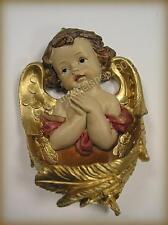4031) Zauberhafter Wand WEIHWASSERKESSEL mit Engel Putte Goldstaffage Geschenk