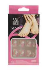 24 faux ongles de pieds a coller onglerie art nail 2110