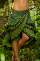 Gypsy Wrap Skirt- Boho Tribal Fairy Festival Layer Crochet Wrap Around Skirt