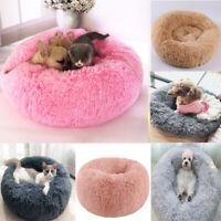 Pet Dog Cat Calming Beds Comfy Shag Warm Fluffy Bed Nest Mattress Fur Sofa Nest