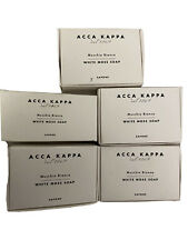 Lot of 5 ACCA KAPPA MUSCHIO BIANCO WHITE MOSS SOAP BARS 3.5 oz 100 gr 1 50gr