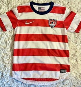 """""""A*""""  NIKE US women's national team USWNT WNT jersey red white blue youth small"""