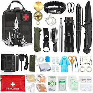 150Pcs Outdoor Emergency Gear Survival Kit Camping Hiking Tactical Backpack US