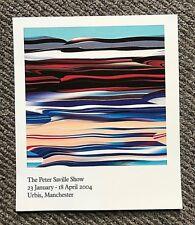 Rare 2004 Peter Saville Exhibition Manchester Urbis Flyer New Order Joy Division