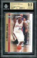 Lebron James Rookie Card 2003-04 Upper Deck Phenomenal Gold #14 BGS 9.5
