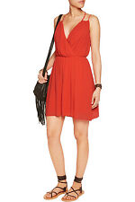 REBECCA MINKOFF Porta Blood Orange Dress Size 0 NWT $248