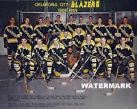 68 - 69 Defunct Oklahoma City Blazers Team Pic Wayne Cashman  8 X 10 Photo Pic