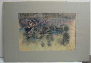 Arnaldo Coen '64 Surreal Abstract Mixed Media Listed Mexican Modernist Artist