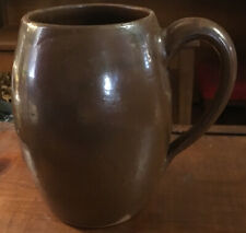 """RARE ANTIQUE GLAZED REDWARE LARGE TANKARD MUG CUP Excellent Condition 6"""""""
