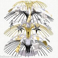 "8.5"" Happy New Year Silver Gold Black Celebration Party Mini Cascade Centerpiece"