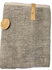 Eco-Melange RAYON Bamboo Towel Solid Gray Ribbed Texture Oeko-Tex 100, NWT, (1)