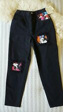 NWT Vintage Disney Mickey & Co Women's Size 7/8 High Waist tapered mom jeans