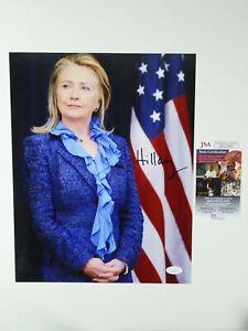 Hillary Clinton Signed 11x14 Photo Senator First Lady JSA COA