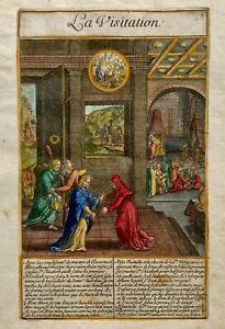 1593 Natalis - Master Engraving - Visitation of Blessed Virgin [1620] - Bible