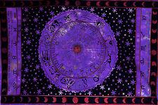 viola nera Zodiacale Celestial Star INSEGNA Tessuto Copriletto letto copridivano