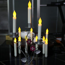 12pc Battery Operated Lights LED Candle Flameless Taper Light Flickering Party