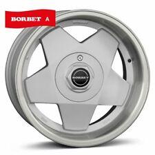 Satz BORBET A 7x15 4x100 ET35 VW Golf usw - Silber / RIEGER-Tuning