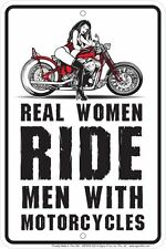 REAL WOMEN Motorcycle Riders metal Sign for fans of STURGIS Bike Rally