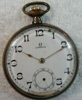 Vintage Omega Gold Plated Pocket Watch KB Swiss Made 7370205 160-24-57