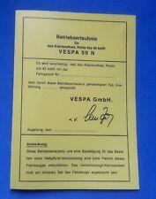 10 Stück abe vespa ROLLER  Betriebserlaubnis Blanko KLEINKRADRAD  N  papiere