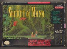 SNES SUPER NINTENDO secret of mana ntsc us/canada version coffret jeu + manuel