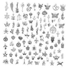 Charms for Jewelry Making 200 Pieces Wholesale bulk Lots, Mixed Smooth Tibetan