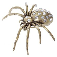 £55 Gothic Gold Spider Insect Statement Pin Brooch Swarovski Elements Crystal