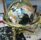Large Brass & Semi Precious Gemstone World Globe W 44cm  H 48cm cost £1250 NEW