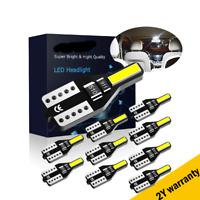 10Pcs LED T10 501 194 W5W 7020SMD Car CANBUS Error Free Wedge White Light Bulb