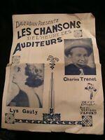 Partition Les Chansons de l'heure des auditeurs Trenet Music Sheet