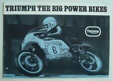 YAMAHA RANGE 'Big Power Bikes' Motorcycle Sales Brochure 1973