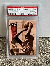 1993 Action Packed Basketball Hall of Fame #68 - JULIUS ERVING - PSA 10 - HOF