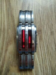 Storm Circuit Watch Silver Red display lights - Highly collectable
